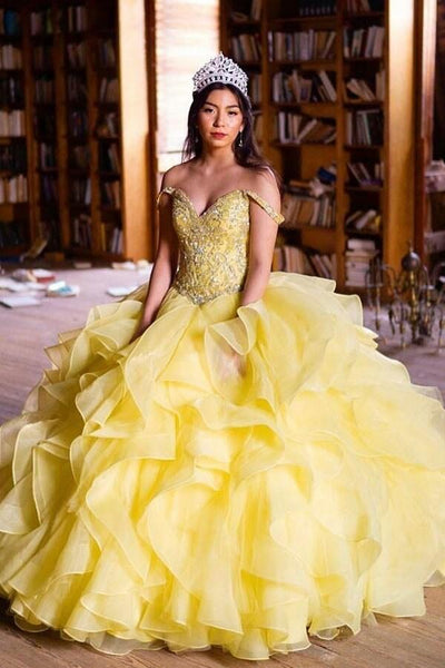 ruffled-organza-yellow-quinceanera-dress-ball-gown-rhinestones-off-the-shoulder-bodice