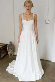 satin-skirt-summer-wedding-dress-with-double-straps