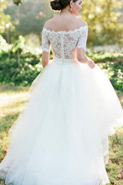 scalloped-lace-off-the-shoulder-wedding-gown-dress-with-tulle-skirt-2