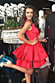 short-hot-pink-homecoming-dresses-for-sale-sleeveless-tiered-skirt-3