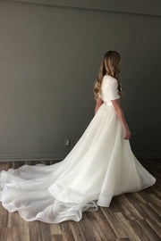short-sleeve-modest-wedding-gown-with-long-train-1