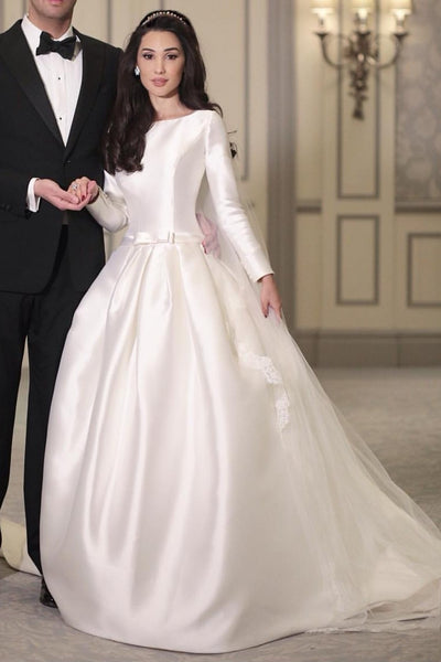 simple-modest-satin-bridal-wedding-gown-long-sleeves