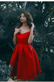 simple-red-satin-homecoming-gown-with-off-the-shoulder