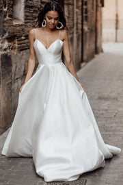 simple-satin-bride-wedding-gown-thin-straps-marriage-dress