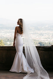 simple-satin-fit-flare-bridal-gowns-with-illusion-neck-1