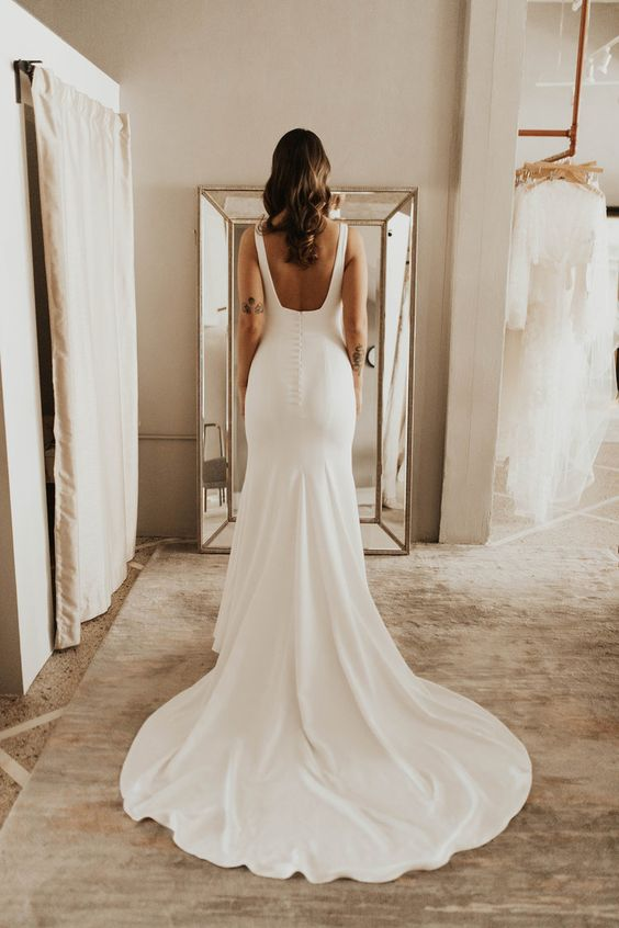 simple-sheath-wedding-gown-with-slight-train-1