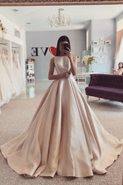 sleeveless-satin-champagne-wedding-gown-simple-2020