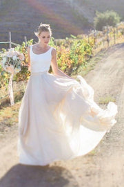 sleeveless-spandex-chiffon-rustic-wedding-dress-with-stones-belt