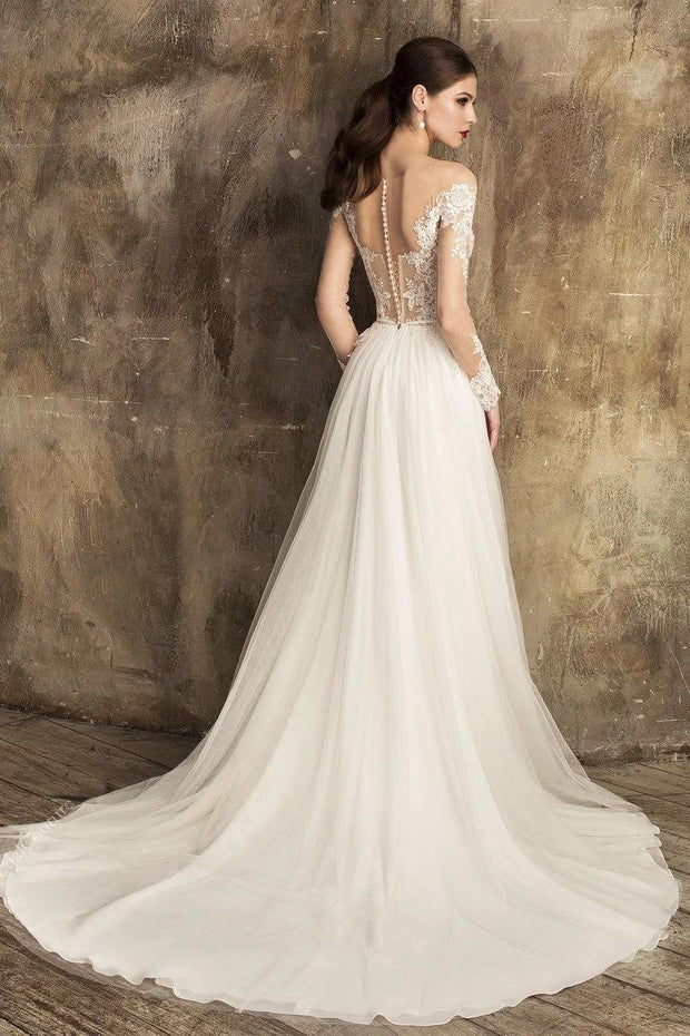 soft-a-line-tulle-bridal-gown-with-sheer-lace-sleeves-1