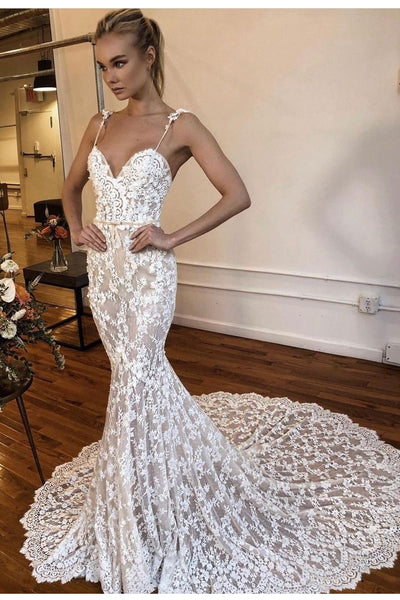 spaghetti-straps-mermaid-bridal-lace-dresses-2021