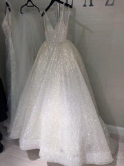 sparkling-sequin-wedding-dresses-with-v-neckline-1