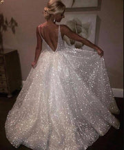 sparkling-sequin-wedding-dresses-with-v-neckline-2