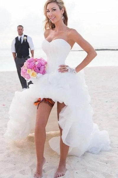 strapless-high-low-bridal-dresses-for-beach-weddings