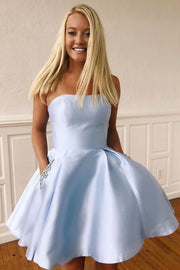 strapless-satin-light-blue-homecoming-gown-with-beaded-pockets