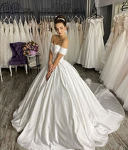 structured-satin-ball-gown-wedding-dress-with-off-the-shoulder-sleeves-2