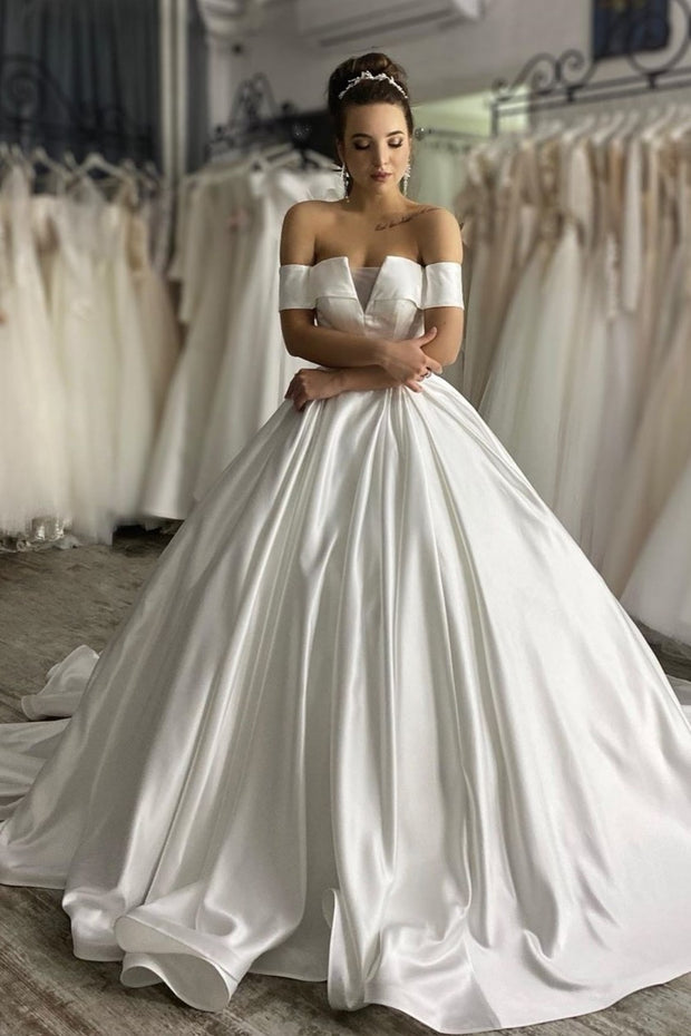 structured-satin-ball-gown-wedding-dress-with-off-the-shoulder-sleeves