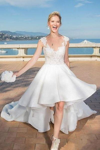 summer-beach-hi-lo-wedding-dress-lace-bodice
