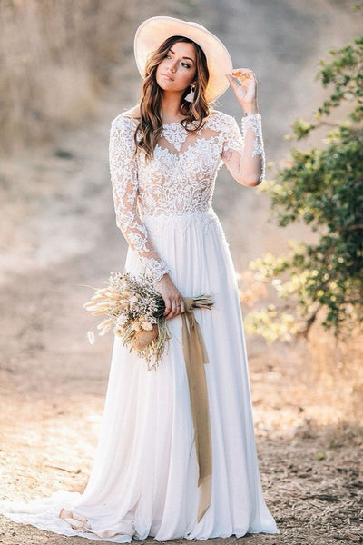 summer-bohemian-wedding-gown-with-lace-long-sleeves