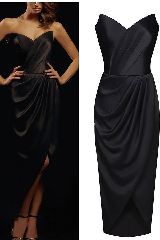 sweetheart-black-pencil-dresses-for-prom-party