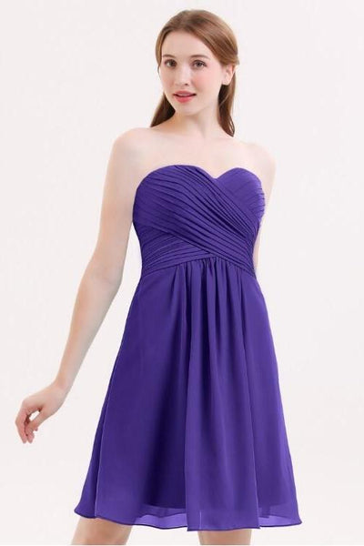 sweetheart-chiffon-purple-bridesmaid-gown-backless-short-party-dress