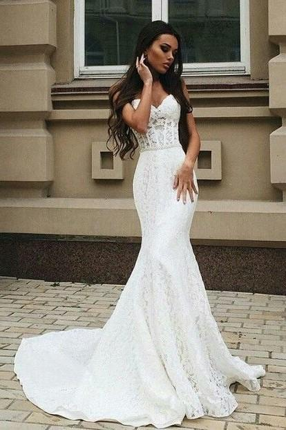 sweetheart-lace-wedding-dress-mermaid-style
