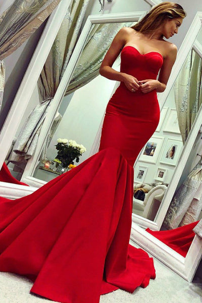 sweetheart-red-mermaid-prom-dress-with-train-satin-backless-gown