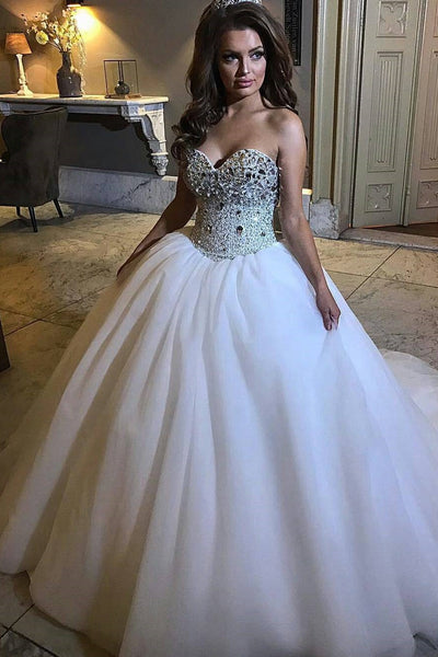 beaded-rhinestones-wedding-gown-with-tulle-skirt