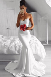 thin-straps-white-mermaid-prom-gowns-with-lace-details