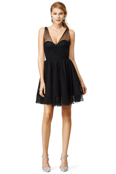 v-neck-black-tulle-homecoming-dresses-with-dots-patterns