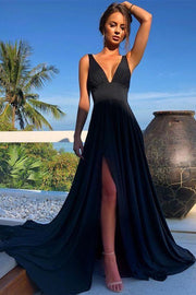 v-neckline-maxi-long-prom-dress-with-wide-waistband