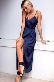 v-neckline-navy-blue-prom-gowns-with-wrapped-split-skirt