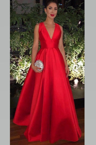v-neckline-satin-red-prom-gown-with-bow-embellished-back