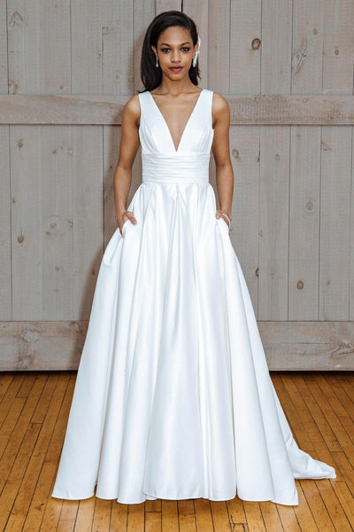 v-neckline-white-satin-wedding-gown-with-pockets
