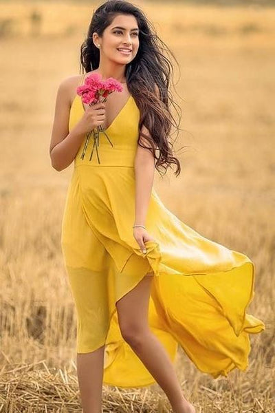 v-neckline-yellow-high-low-prom-dresses-with-x-back