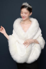 Winter Wedding Coat Bridal Shrug Fur Jacket Wrap