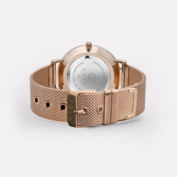 Dena Rose Gold White 36MM