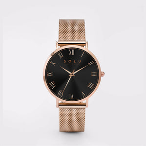 Dena Rose Gold Black 36MM