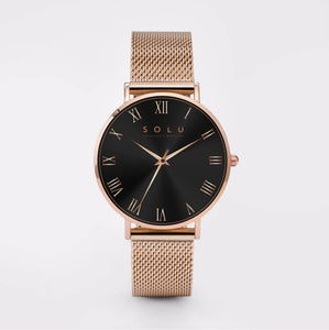 Dena Rose Gold Black 40MM