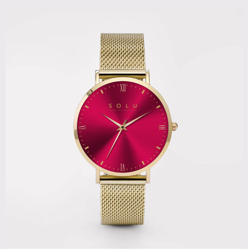 Mia Gold Red 36MM