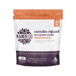 KANEH CO - 100MG THC - BEST OF BOTH WORLDS BROWNIES-EDIBLE-Emberz Cannabis Delivery