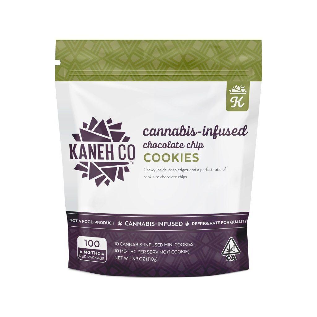 KANEH CO - 100MG THC - CHOCOLATE CHIP COOKIES-EDIBLE-Emberz Cannabis Delivery