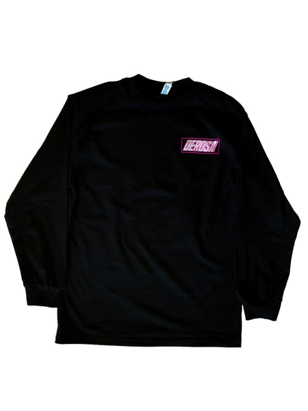 Black Long Sleeve DeRosa Shirt