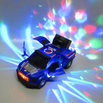 Electric door rotation music off-road toy car