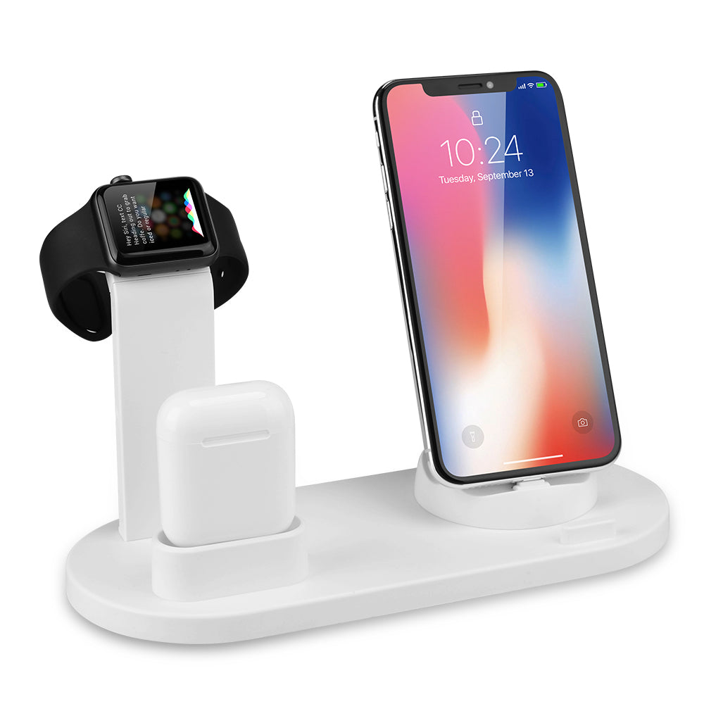360 Degree Rotating Multi Plug 4in1 Wireless Mobile Phone Charger