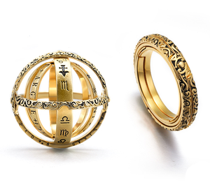 Closing is love,Opening is the world-Brainart™ Armillary Sphere Rings
