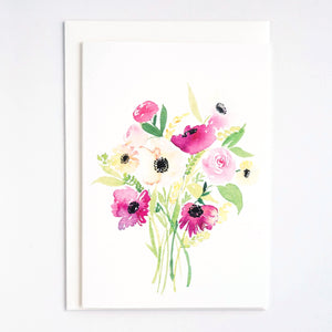 Bouquet of Wild Daisies Card