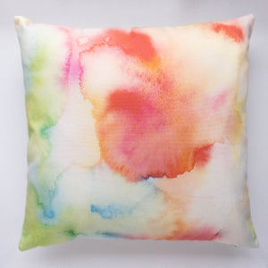 Watercolour throw pillow, homeware, by For My Dearest.