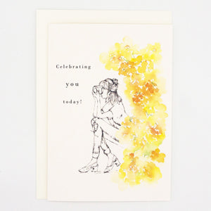 Girls and Flowers Card: Celebrating You Today