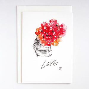 Girls & Flowers Card: Love