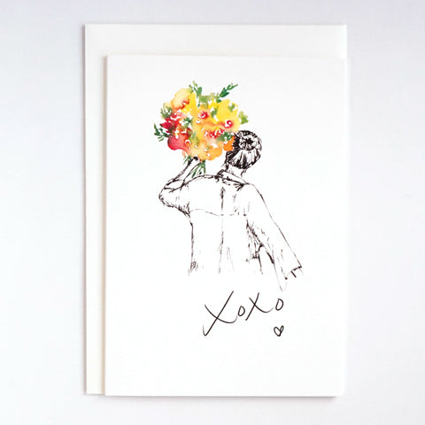 Girls & Flowers Card: XOXO